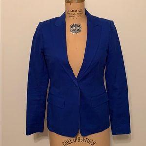Aqua Bloomingdales Blue Sz 0 Suit Jacket Blazer